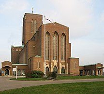exterior of Guildford Cathedral