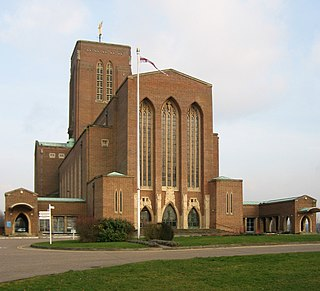 Guildford Cathedral Church in Surrey, United Kingdom