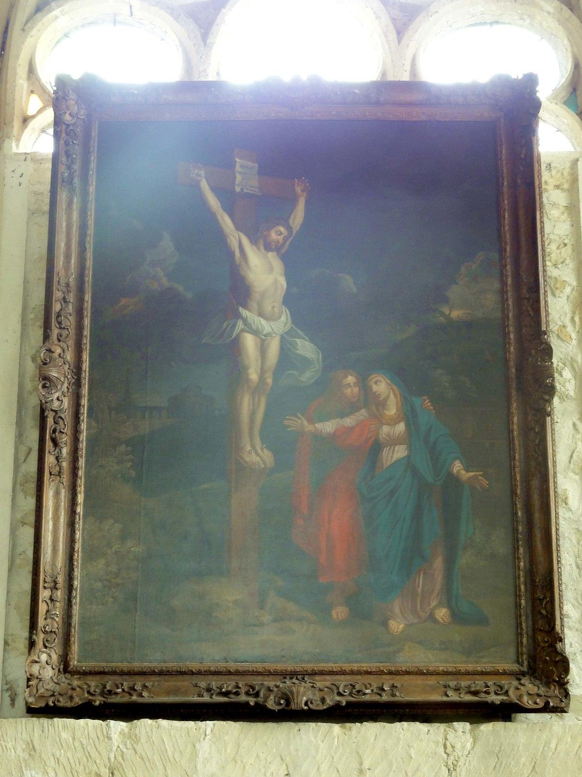 Fichier:Guiry-en-Vexin (95), église Saint-Nicolas, tableau - Christ en croix.JPG — Wikipédia