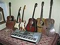 Guitars & Keyboard - Sir Theo, Belgaum, India (2011-11-23 08.17.45 by julian correa).jpg