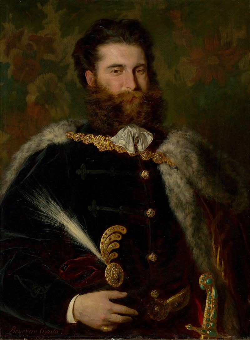 Дьюла Бенчур - Портрет Альберта Уйхази - О 1876 - Словацкий национальный Gallery.jpg