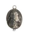 Hängsmycke i silver förställande konung Gustav II Adolf i profil, 1631 - Hallwylska museet - 110343.tif