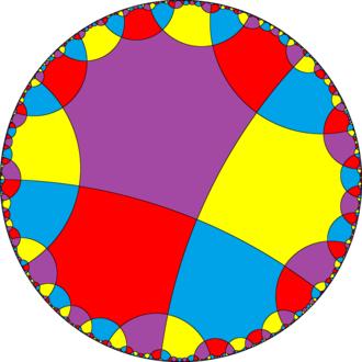 Order-4 octagonal tiling - Image: H2 tiling 488 5 4color