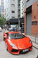 HK 上環 Sheung Wan 普仁街 Po Yan Street red race car 林寶堅尼 Lamborghini parking June 2017 IX1 04.jpg