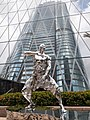 HK 中環 Central 交易廣場 Exchange Square sculpture fighting silver men July 2021 SS2 02.jpg
