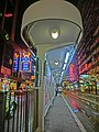 HK North Point King's Road night tram station May-2014.JPG