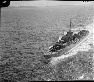 J-, K- and N-class destroyer - Image: HMAS Nepal FL4204