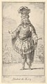 Habit de Roy- a man wearing a tonnelet decorated with rosettes, a crown and a turban with feathers on his head, from 'New designs for costumes' (Nouveaux desseins d'habillements à l'usage des balets operas et comedies) MET DP832431.jpg