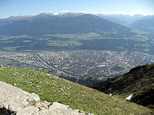 Innsbruck vista dal Hafelekar (Monti del Karwendel)