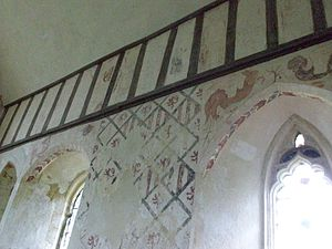 Hailes Abbey - Image: Hailes Churchpaintings