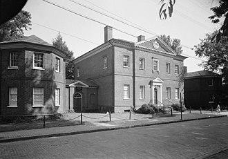 Hammond–Harwood House - Exterior view of the Hammond–Harwood House