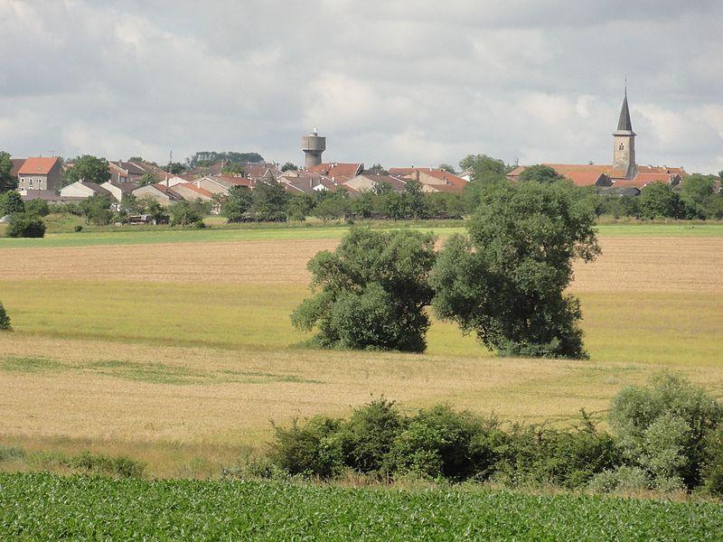 Haraucourt (M-et-M) vue sur le village