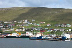 The harbor in Runavik