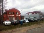 Hardware stores at Gagarina Street on the border of Kaliningrad and village of Nevskoye.jpg