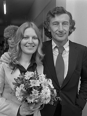 Harry Mulisch - Harry Mulisch and Sjoerdje Woudenberg on their wedding day in 1971