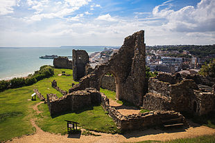 <small>Hastings Castle, with the Pier and Town Centre in the background</small>