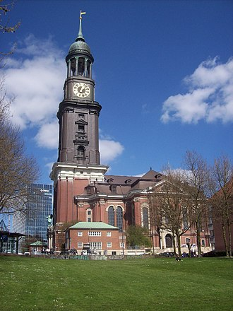 St. Michael's Church, Hamburg - South facade