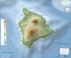 Hawaii Island topographic map-fr.svg