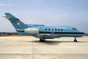 Maersk Air - Hawker Siddeley HS 125 corporate jet