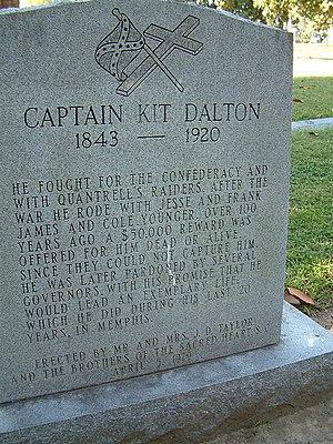 Kit Dalton - Headstone of Captain Kit Dalton in Elmwood Cemetery