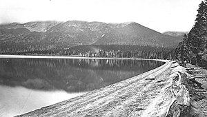 Mount Sheridan - Image: Heart Lake Mount Sheridan YNP Jackson 1878