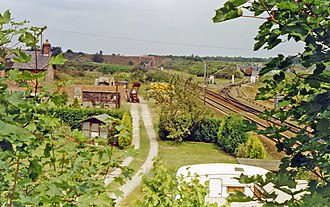 Heck railway station - Site of Heck station in 1992