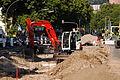 Heidelberg - Umbau der Kurfürsten-Anlage Ost - Kubota KX080 2015-07-16 18-24-53.JPG
