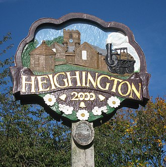 Heighington, County Durham - Image: Heighington Sign