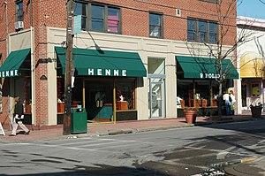 Walnut Street (Pittsburgh) - Henne Jewelers storefront.