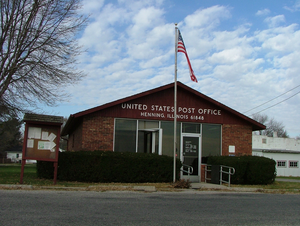 Henning, Illinois - Henning post office