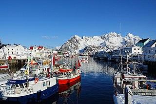 Henningsvær Village in Northern Norway, Norway