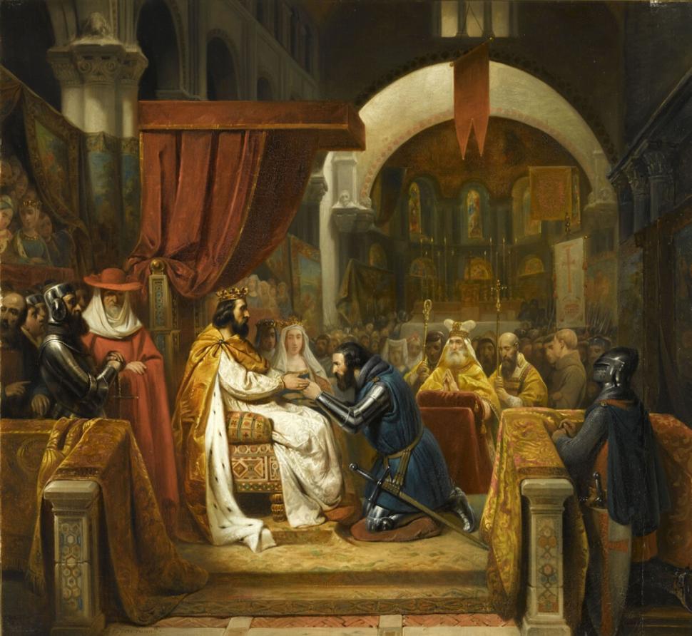 Henri de Bourgogne reçoit l'investiture du comté de Portugal, 1094 (Claude Jacquand, dit Claudius; 1841)