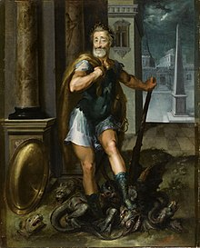 Henry IV, as Hercules, vanquishing the Lernaean Hydra (i.e. the Catholic League), by Toussaint Dubreuil, c. 1600 (Source: Wikimedia)