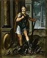 Henry IV en Herculeus terrassant l Hydre de Lerne cad La ligue Catholique Atelier Toussaint Dubreuil circa 1600.jpg
