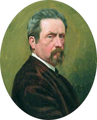 Henry Stacy Marks - Self-portrait (1882; Aberdeen Art Gallery)
