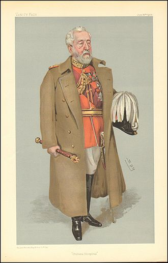 "Henry Wylie Norman - ""Chelsea Hospital"". Caricature by Spy published in Vanity Fair in 1903."