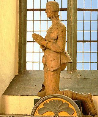 Francis, Duke of Brunswick-Lüneburg - Life-size statue of the Protestant duke on entering the chapel at Gifhorn Castle