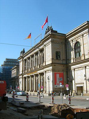 Hamburg Stock Exchange - the stock exchange building