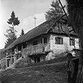 Hiša, združena s podom (vhod na pod iz veže), Vrtača 1956.jpg
