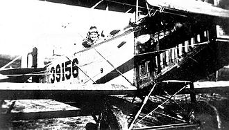 Hicks Field - Curtiss JN-4 Jenny trainer at Hicks Field in 1918