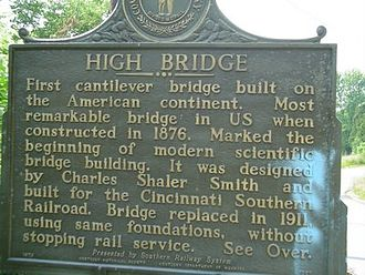 High Bridge, Kentucky - High Bridge historical marker