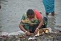 Hindu Devotee Preparing Surya Puja - Makar Sankranti Observance - Kolkata 2018-01-14 6585.JPG