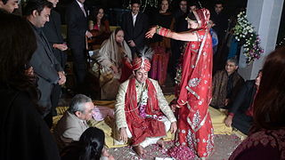 An Indian Hindu Wedding Ceremony In Progress