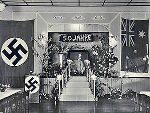 Adolf Hitler's 50th birthday - Celebration of Hitler's 50th birthday in a German club in Australia