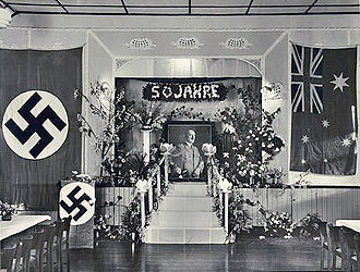 Adolf Hitler's 50th birthday - Celebration of Hitler's 50th birthday in a German club in Australia