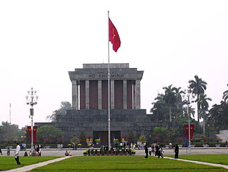 Socialist patriotism - The Ho Chi Minh Mausoleum.