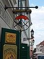 Hoffmann 1889 shop sign, Jedlik Ányos street 3, 2018 Győr.jpg