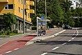 Holdeplass med sykkelfelt, Oslostandarden av 2017, Ved Kirkeveien 112 og 14.jpg