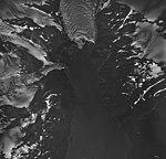 Holgate Glacier, terminus of tidewater glacier, and mountain glaciers, August 25, 1964 (GLACIERS 6554).jpg