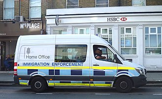 Home Office - A Home Office Immigration Enforcement vehicle in north London.